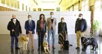 Zaragoza financiará el registro de ADN de los 22 perros guía de la ciudad